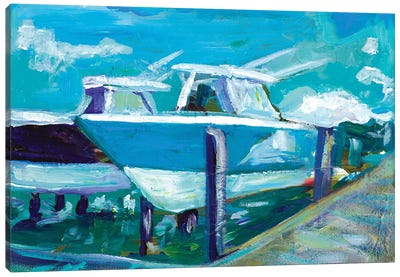 Docked Boats Canvas Art Print