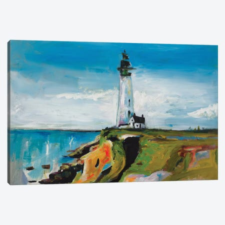 Lighthouse On A Cliff Canvas Print #BCM12} by Andy Beauchamp Canvas Art Print