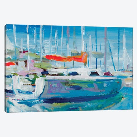 Marina Sailboats Canvas Print #BCM13} by Andy Beauchamp Canvas Print