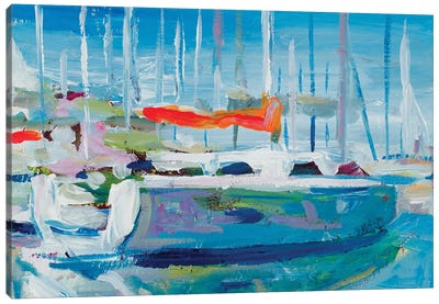 Marina Sailboats Canvas Art Print
