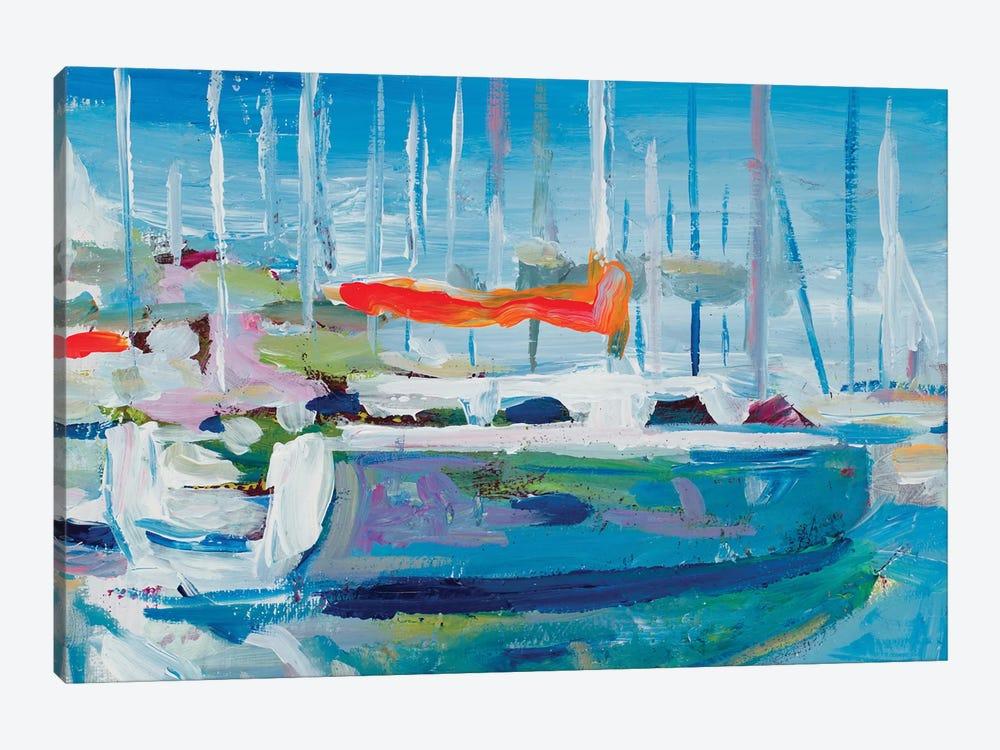 Marina Sailboats by Andy Beauchamp 1-piece Canvas Print