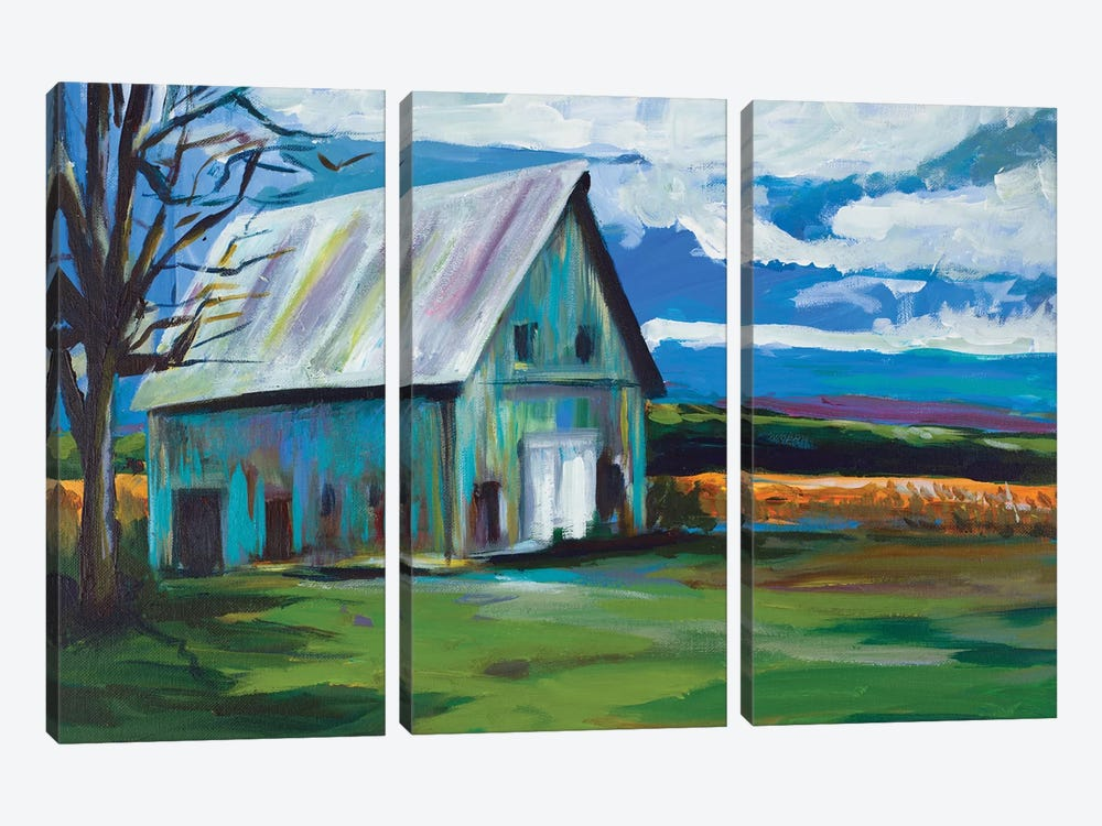 Old Barn by Andy Beauchamp 3-piece Canvas Artwork