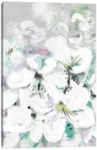 White Orchids Canvas Art Print