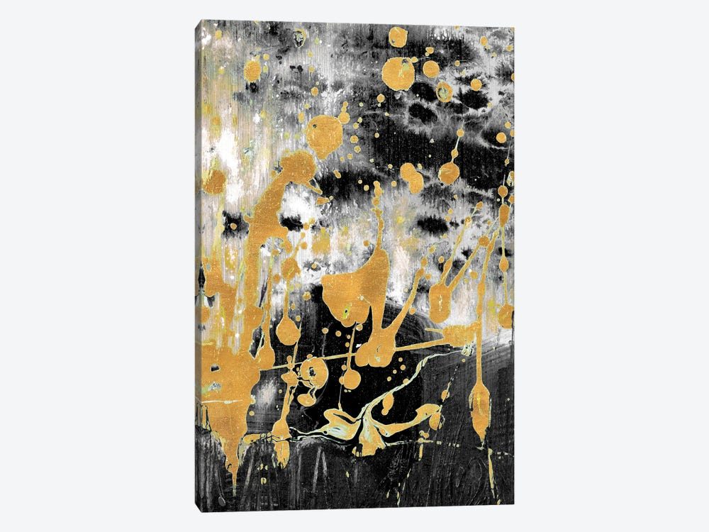 Gold Reflections Abstract by Andy Beauchamp 1-piece Canvas Art Print