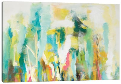 Mist of the Crowd Abstract Canvas Art Print