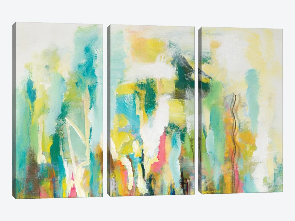 Mist of the Crowd Abstract by Andy Beauchamp 3-piece Canvas Artwork