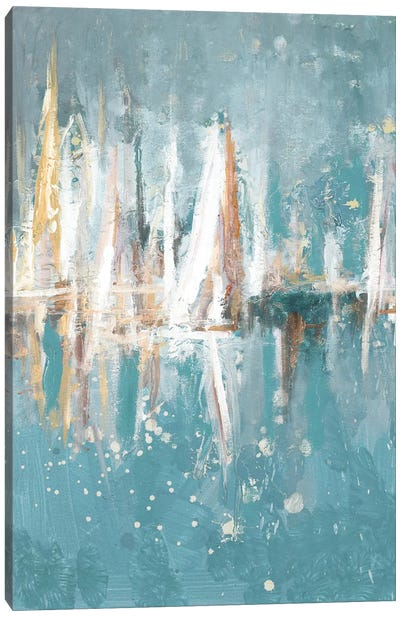 Boats Slowly Fading Canvas Art Print