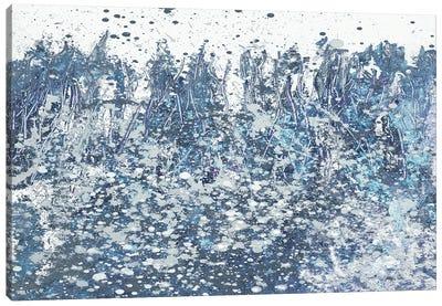 Blue Distant Slashes Canvas Art Print