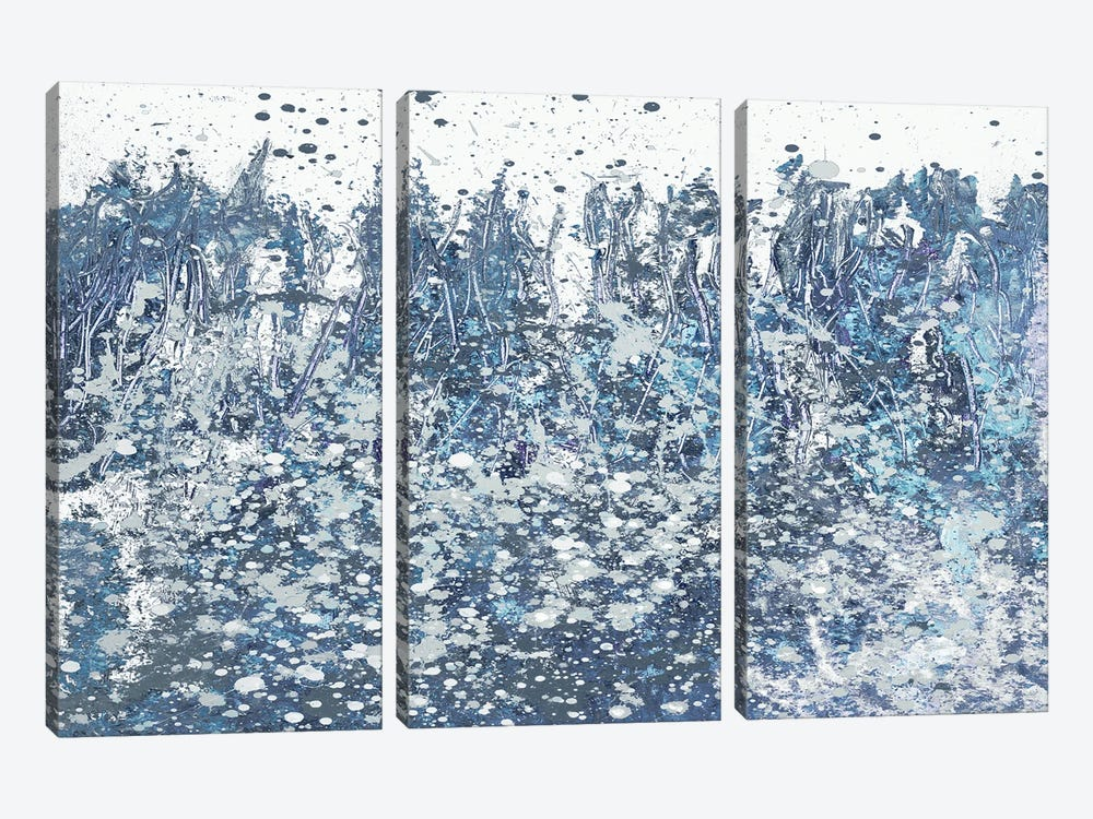 Blue Distant Slashes by Andy Beauchamp 3-piece Canvas Art Print