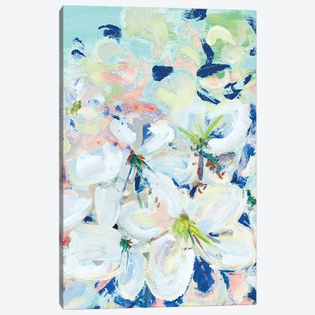 White Orchids On Blue Canvas Print #BCM40} by Andy Beauchamp Canvas Art