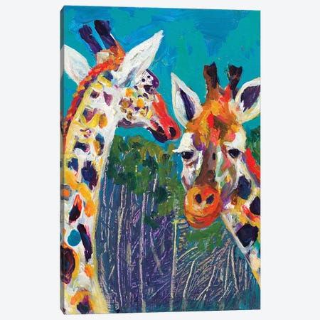 Colorful Giraffes Canvas Print #BCM5} by Andy Beauchamp Canvas Art Print