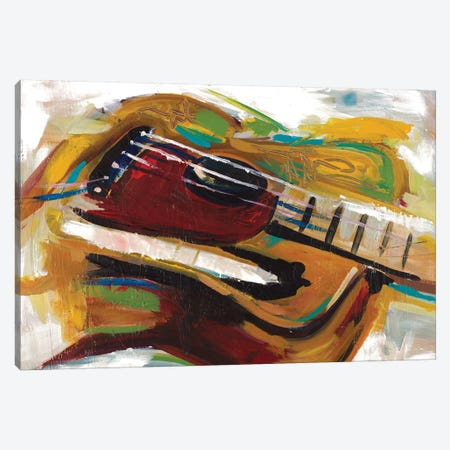 Colorful Guitar Canvas Print #BCM6} by Andy Beauchamp Canvas Print