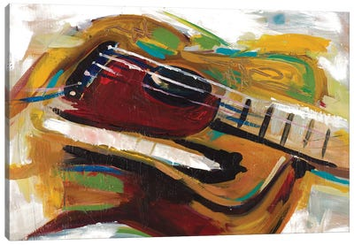 Colorful Guitar Canvas Art Print
