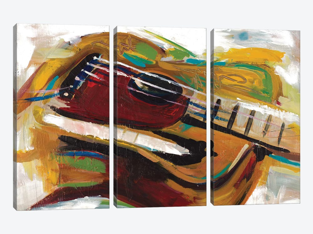 Colorful Guitar by Andy Beauchamp 3-piece Canvas Artwork