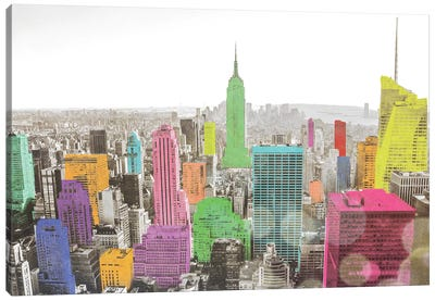 Color In The Cities Canvas Art Print