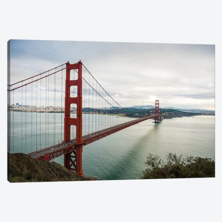 Golden Gate Canvas Print #BCP19} by Bill Carson Photography Canvas Artwork