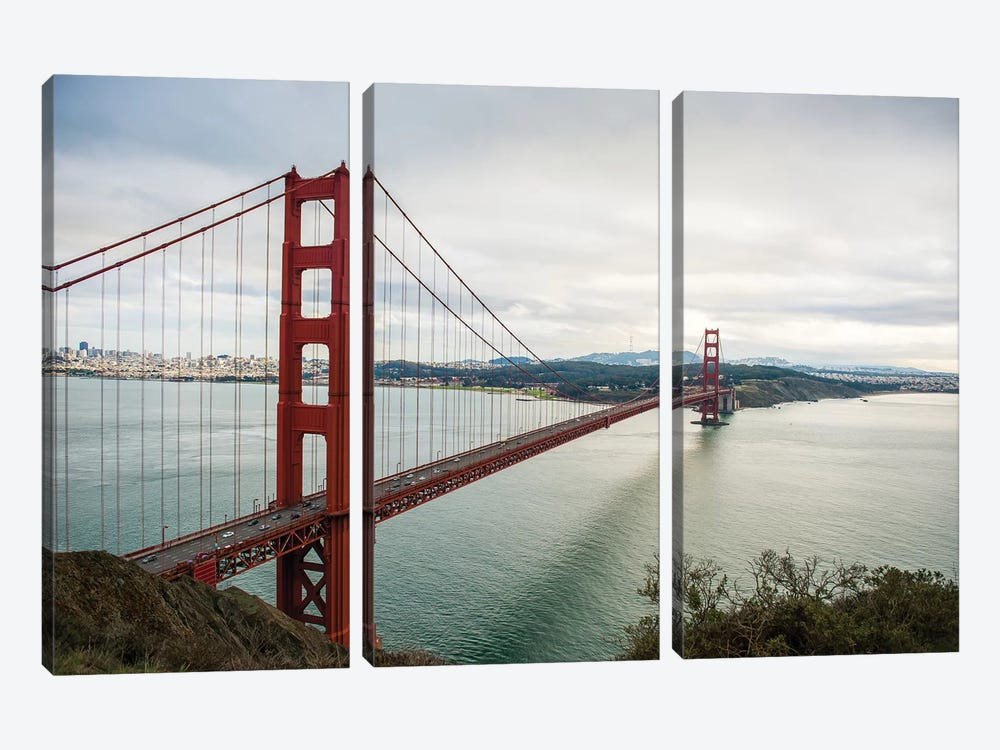 Golden Gate by Bill Carson Photography 3-piece Canvas Print
