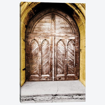 Golden Cathedral Door I Canvas Print #BCP49} by Bill Carson Photography Art Print