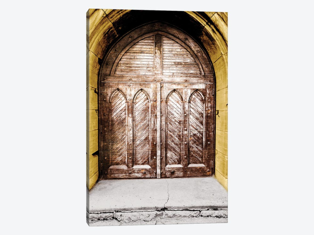 Golden Cathedral Door I by Bill Carson Photography 1-piece Canvas Art
