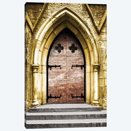 Golden Cathedral Door II Canvas Print #BCP50} by Bill Carson Photography Canvas Art