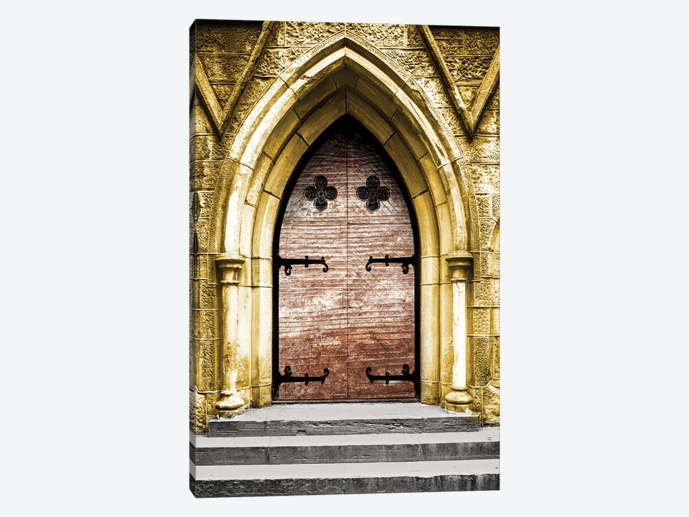 Golden Cathedral Door II by Bill Carson Photography 1-piece Canvas Artwork