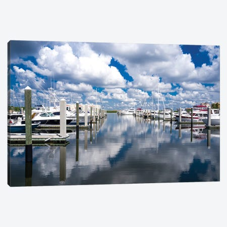 Boat Pier Canvas Print #BCP5} by Bill Carson Photography Art Print