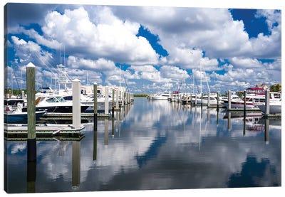 Boat Pier Canvas Art Print