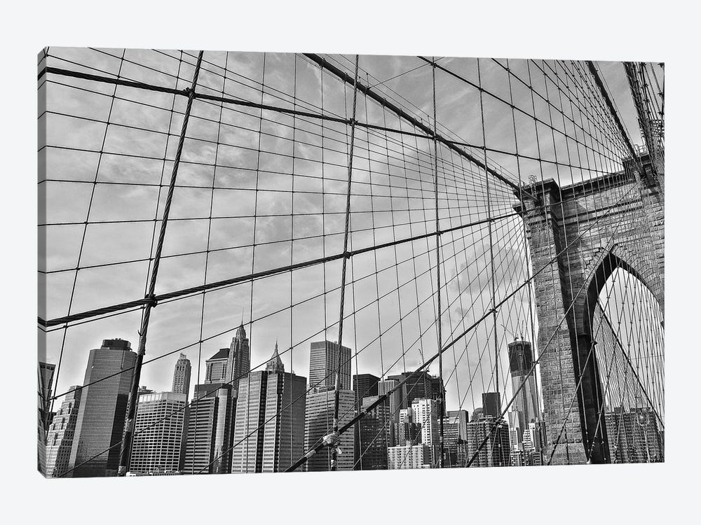 Brooklyn Bridge by Bill Carson Photography 1-piece Canvas Wall Art
