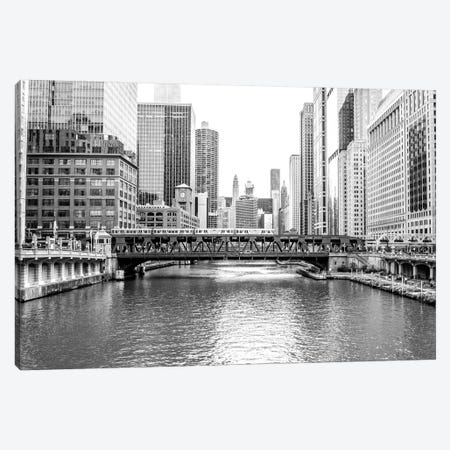 BW Chicago River View 3-Piece Canvas #BCP9} by Bill Carson Photography Canvas Wall Art