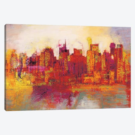 Abstract New York City Canvas Print #BCR2} by Brian Carter Canvas Artwork