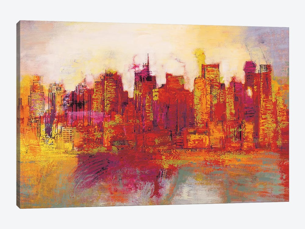 Abstract New York City by Brian Carter 1-piece Canvas Print