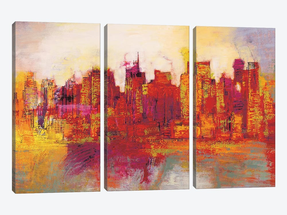 Abstract New York City by Brian Carter 3-piece Canvas Art Print