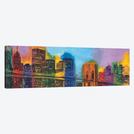 Hello NYC Canvas Print #BCR4} by Brian Carter Canvas Print