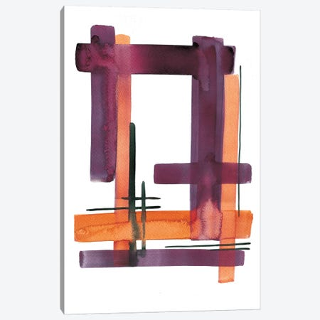 Criss-Cross 3-Piece Canvas #BCV14} by Albina Bratcheva Canvas Print