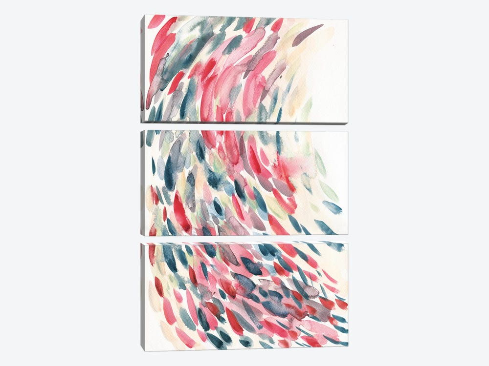 Feather Train by Albina Bratcheva 3-piece Canvas Print