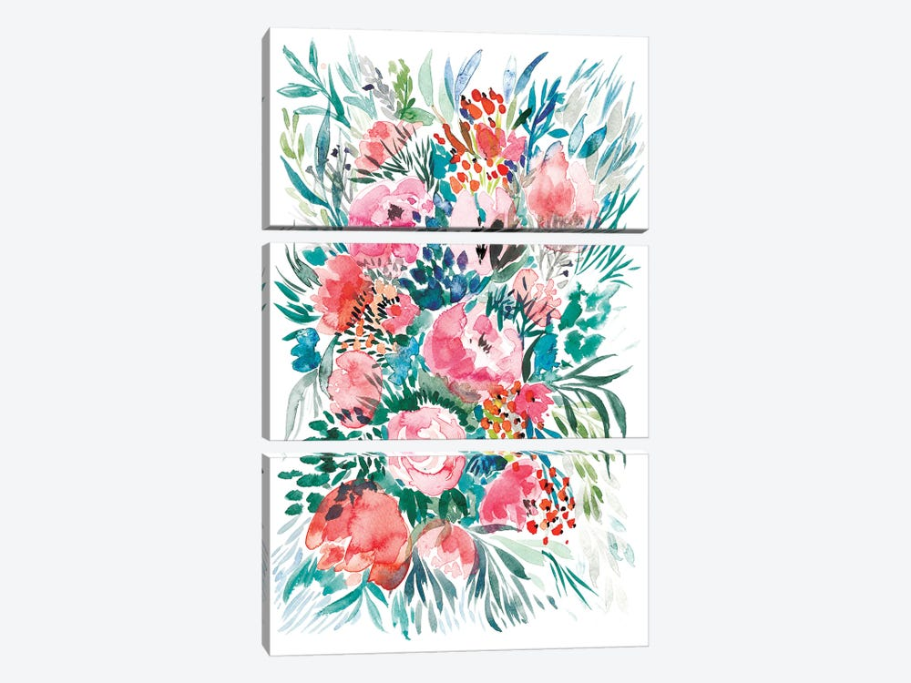 Floral Bouquet III by Albina Bratcheva 3-piece Canvas Art Print