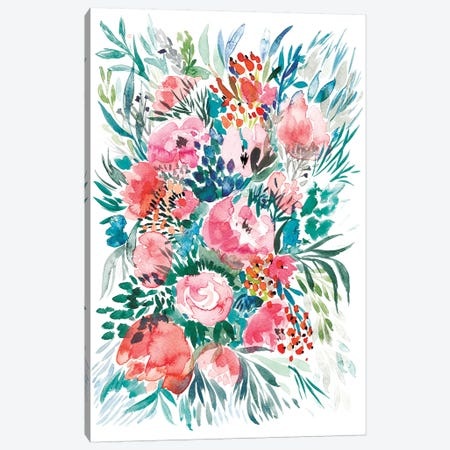 Floral Bouquet III Canvas Print #BCV20} by Albina Bratcheva Canvas Print