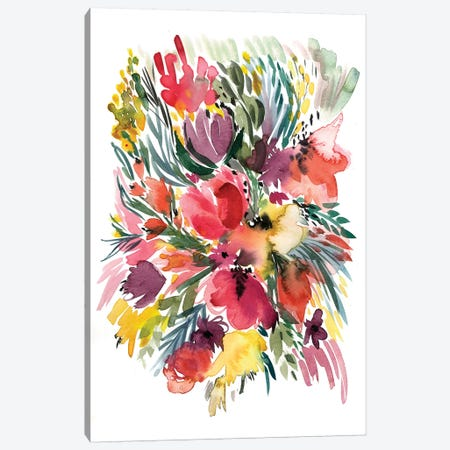Floral Bouquet V Canvas Print #BCV22} by Albina Bratcheva Canvas Art Print