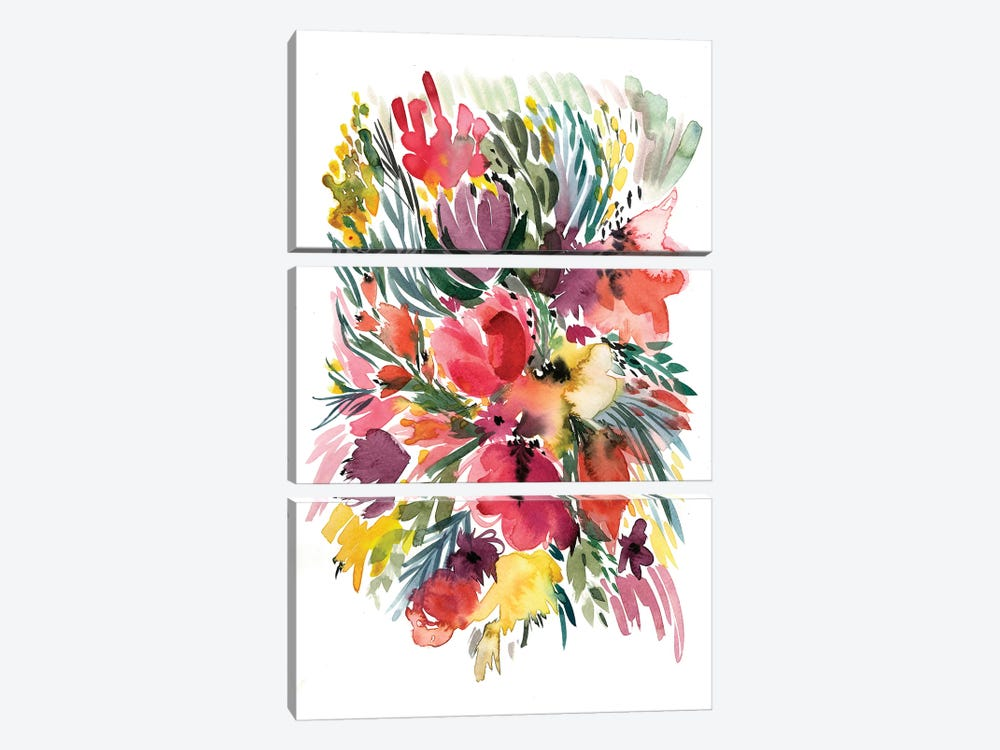 Floral Bouquet V by Albina Bratcheva 3-piece Art Print