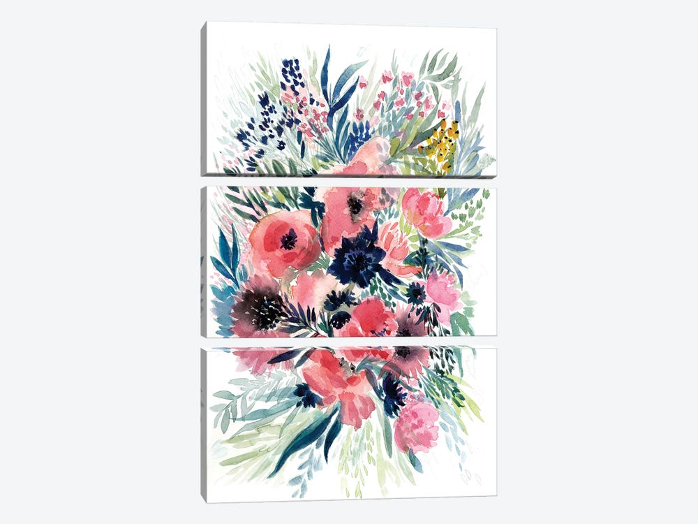 Floral Bouquet VI by Albina Bratcheva 3-piece Canvas Wall Art