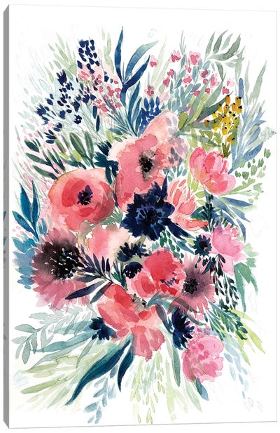 Floral Bouquet VI Canvas Art Print