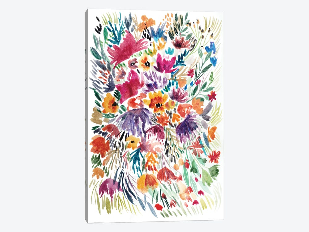 Floral Field II by Albina Bratcheva 1-piece Canvas Wall Art