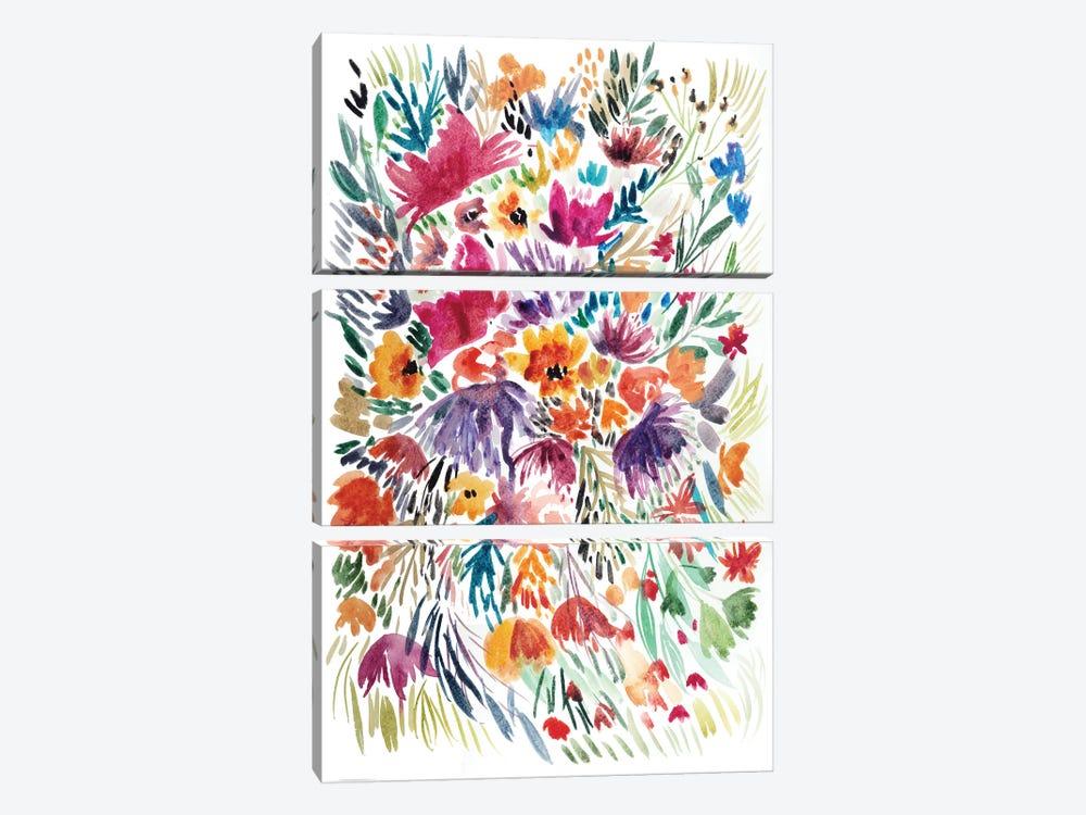 Floral Field II by Albina Bratcheva 3-piece Canvas Artwork