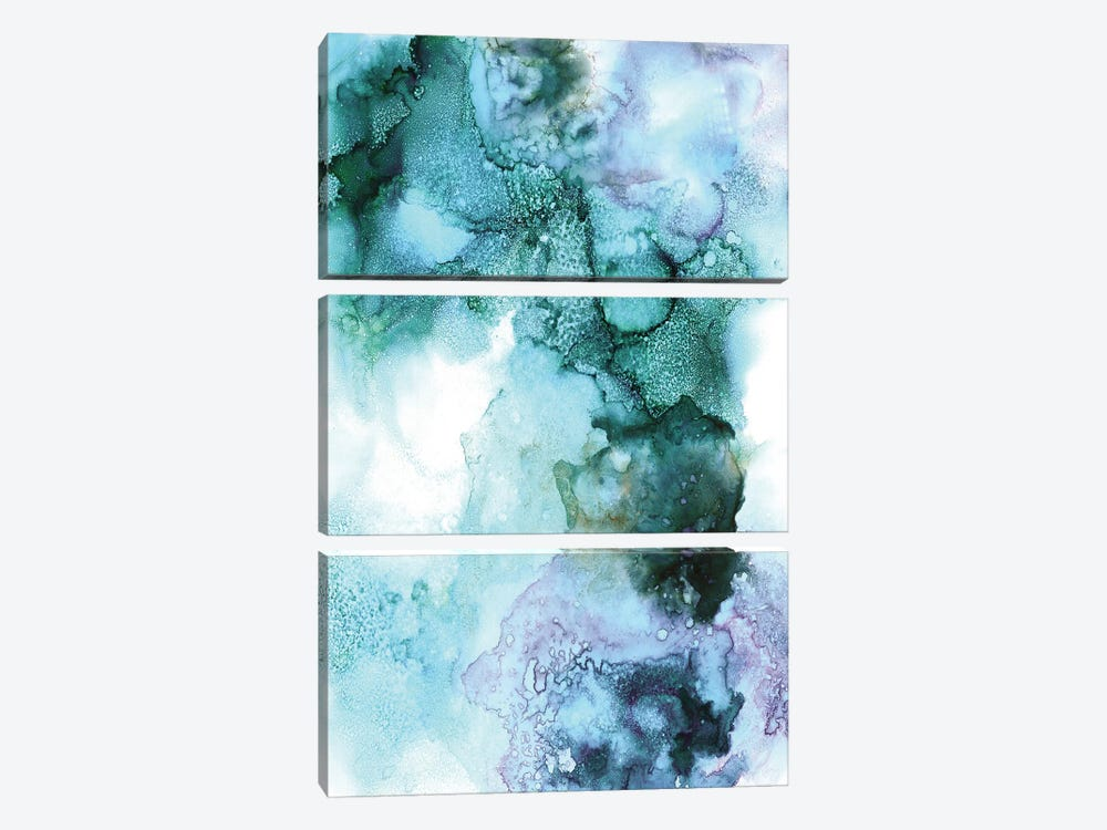 Into the Galaxy III by Albina Bratcheva 3-piece Canvas Wall Art