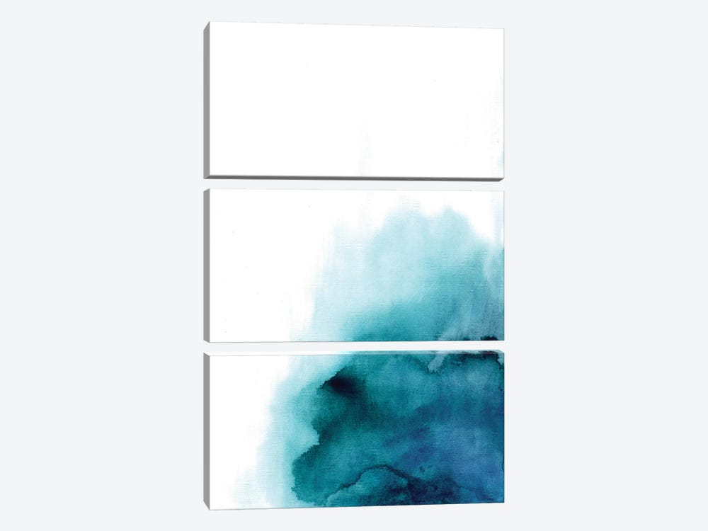 Blue Drop by Albina Bratcheva 3-piece Art Print