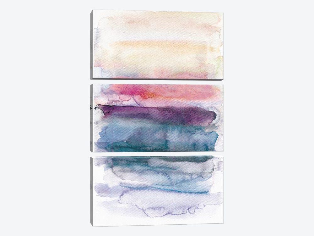 Sunset Abstract  by Albina Bratcheva 3-piece Canvas Art
