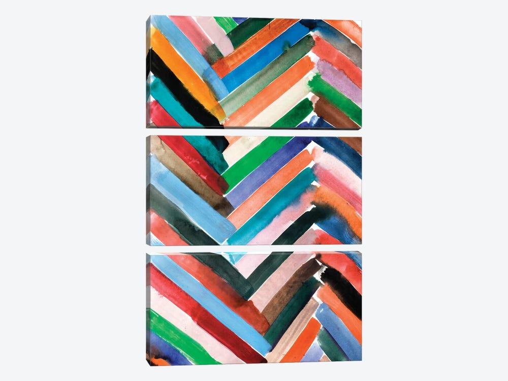 Watercolor Abstract VI by Albina Bratcheva 3-piece Canvas Artwork