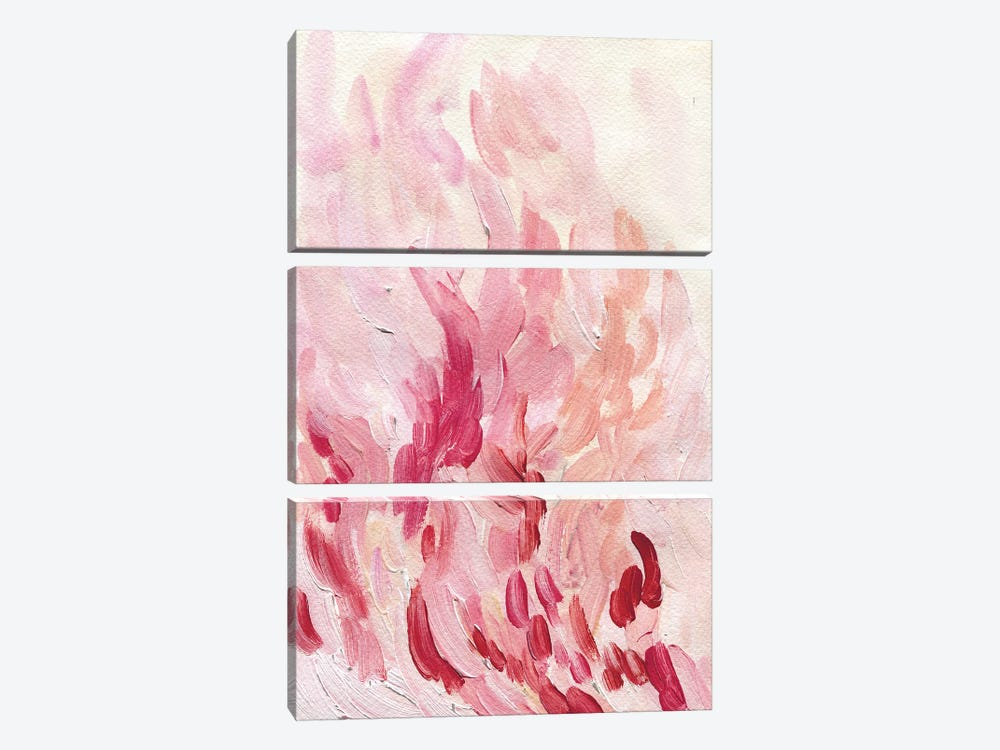 Pretty In Pink by Albina Bratcheva 3-piece Canvas Wall Art