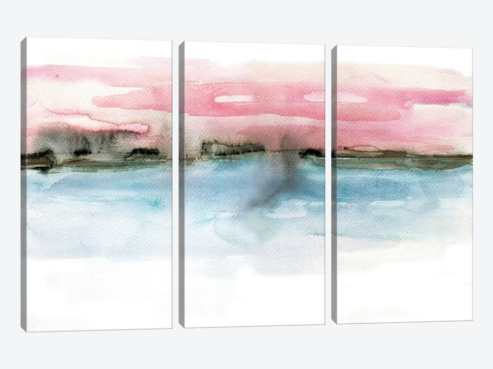 Coastline by Albina Bratcheva 3-piece Canvas Print
