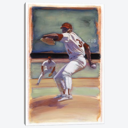 Baseball I Canvas Print #BDE13} by Bruce Dean Canvas Art